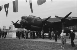 [An Avro Lancaster bomber on display at airshow]