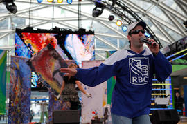 RBC perfomance on stage of Community Celebration in Vancouver, BC