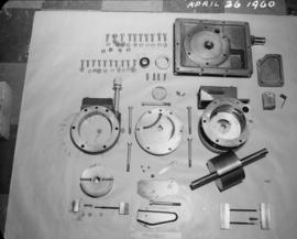 Laboratory vacuum pump taken apart for cleaning