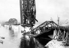 Wreckage of the Second Narrows Bridge collapse
