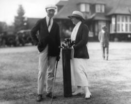 [Two participants in the Pacific Northwest Golf Tournament at the Vancouver Golf and Country Club]