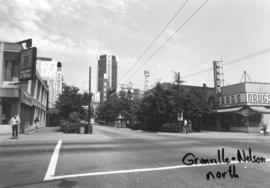 Granville and Nelson [Streets looking] north