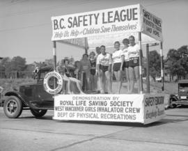 C.P. Exhibition Parade [Float] - B.C. Safety League