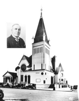 [Exterior of First United Church - corner of Gore Avenue and Hastings Street]