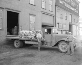 [Brackman-Ker Milling Company truck in front of Cunningham-Trapp Limited]