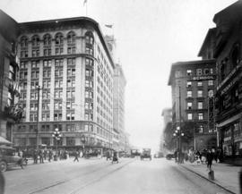 [Looking south on Graville Street at Georgia Street]