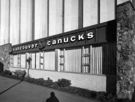 Exterior of Vancouver Canucks office, Pacific Coliseum