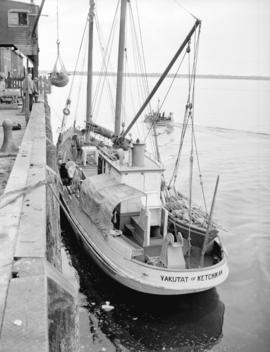 "Fish boat ""Yakutat"" of Ketichan at Prince Rupert dock"