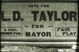 Vote for L.D. Taylor for Mayor sign