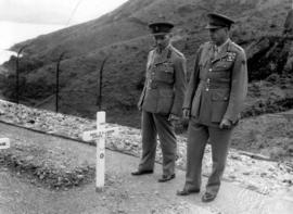 Sai Wan Bay War Cemetery, Brigadier Sherwood Lett and General Crerar at a grave