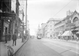 [View of Hastings Street, looking west from Homer Street]