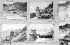 [Four views of Coquitlam Dam construction]