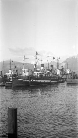 Tugboats at V.H.C. [Vancouver Harbour Commission wharf]