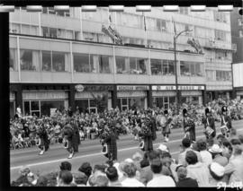 Pipe band in 1959 P.N.E. Opening Day Parade