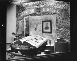 [Window display at B.C. Electric Railway Company commemorating Vancouver's Diamond Jubilee]