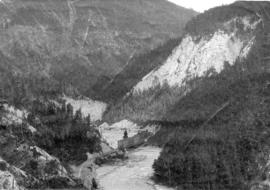 [View of the Kicking Horse river and pass]