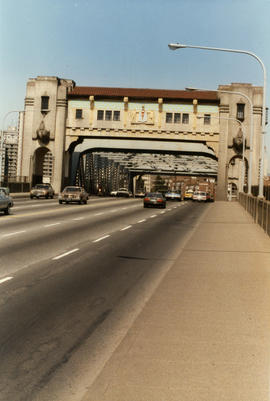 Burrard Bridge before repainting