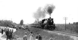 At Fort Langley : The pilot train [during visit of King George VI and Queen Elizabeth]