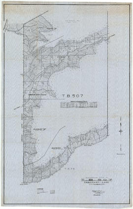 Topographical map of T.B.507. Coquitlam Lake, Dominion Railway Belt, B.C.