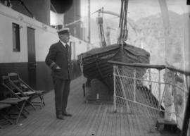 "Captain on the deck of Union S.S. Co. ""T.S.S. Lady Cecilia"""