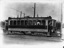 B.C. Electric Railway street car at Stanley Park loop
