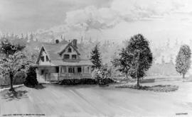 The Charles Wilson House at 25th and Blaclava [Balaclava Street], circa 1936, [watercolour] paint...
