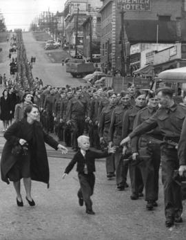 """Wait for me daddy"" [The British Columbia Regiment, Duke of Connaught's own rifles, mar..."
