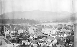 [Looking northwest from approximately Dunsmuir Street and Richards Street]