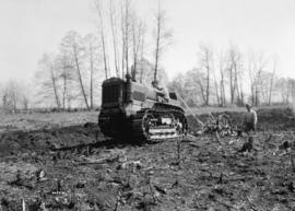 Tractor and Plough at Pitt Meadows [Wise], International Harvester Co.