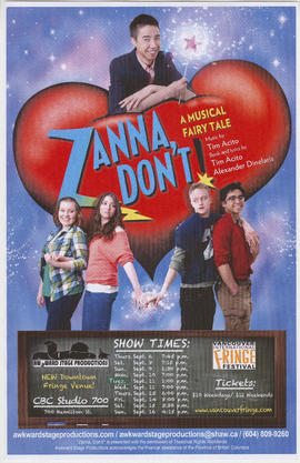 Zanna don't : a musical fairy tale : Awkward Stage Productions : Vancouver International Fringe F...