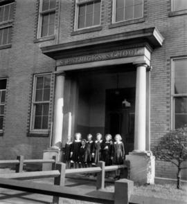 St. Patrick's School for Girls in Mount Pleasant, with students on steps