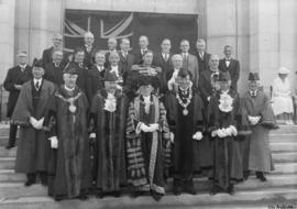 Right Honourable the Lord Mayor of London, Sir Percy Vincent, City Hall, Vancouver, Canada, 20 Au...