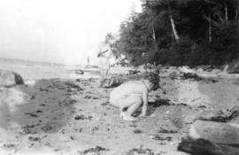 On the beach at Point Grey : John [Banfield]