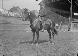 Man in uniform on a horse