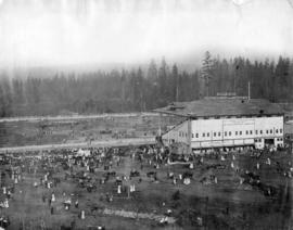 [View of Hastings Park track and grandstand]
