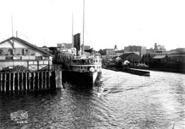 "[The G.T.P. steamer ""Prince Rupert"" at Grand Trunk Pacific Dock]"