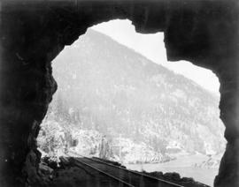 Fraser Canyon Near North Bend Showing Four Tunnels