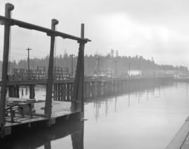 [View from] Burrard [Shipyard and] Engineering [Works] waterfront property