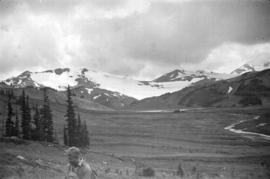 [View of Helmet Glacier from Helmet Valley in Garibaldi District]
