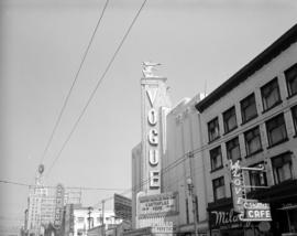 [Vogue Theatre neon sign]