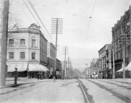 [Looking north along Granville Street from Georgia Street]