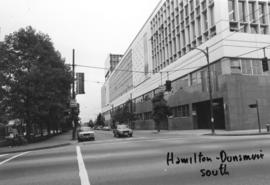 Hamilton and Dunsmuir [Streets looking] south