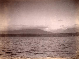 [View of North Vancouver from across Burrard Inlet]