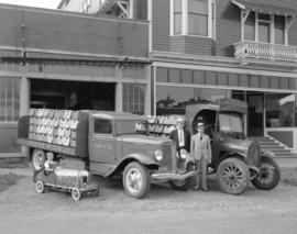 Cross and Company [ginger ale delivery] trucks