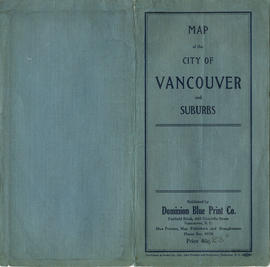 Map of the City of Vancouver and suburbs : map cover