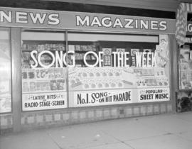 "[""Song of the week"" window display]"