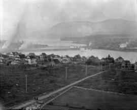 [View from Oak Street and 12th Avenue looking north-west with Granville Street and Kitsilano Tres...