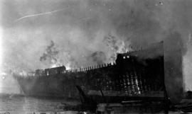 [Burning of condemned wooden warship]