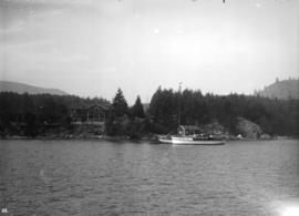 [Bowen Lodge viewed from harbour]