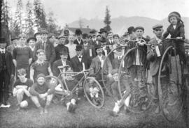 [Bicycle racers and others at Brockton Point]